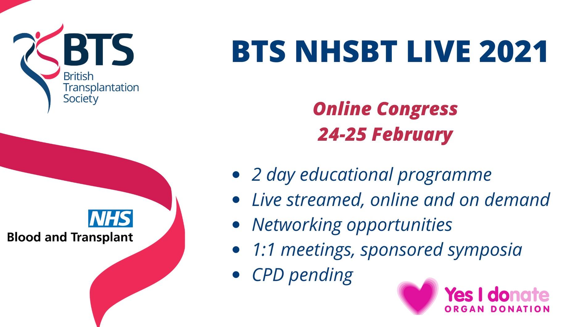BTS NHSBT LIVE 2021